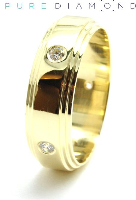 Perpetual Yellow Gold Wedding Band. At PureDiamond.ca we have unparalleled friendly service.  If you're in the Greater Vancouver area please call (604) 563-9875 to book an appointment.