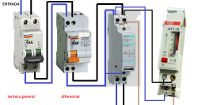 monophasic contactor & clock timer.