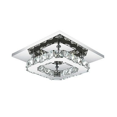 8W+Flush+Mount+,++Modern/Contemporary+Electroplated+Feature+for+LED+Metal+Bedroom+/+Dining+Room+/+Hallway+–+USD+$+45.99