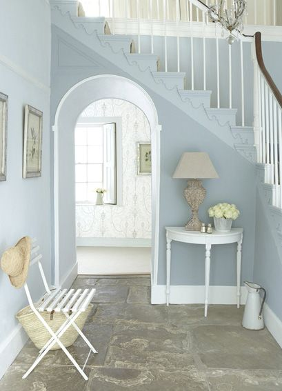 'Bone China Blue' Family  All Little Greene Paints available from authorised stockist Style Flooring of York