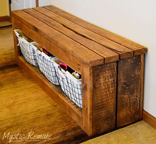 Pallet Wood Storage Bench                                                                                                                                                                                 More