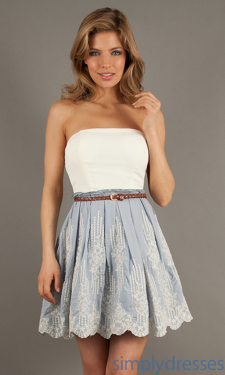 Dress Short Strapless Casual Dress Simply Dresses Dresses Pinterest Dresses Casual