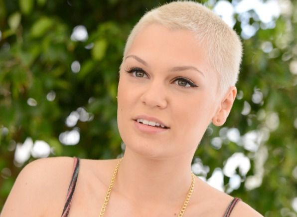Jessie J Hairstyle: Light Hair Buzzcut