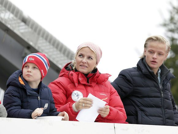 Princess Ingrid, Crown Princess Mette Marit and Marius Høiby.......Royals Attend Holmenkollen in Norway....Posted on March 9, 2014 by HatQueen..