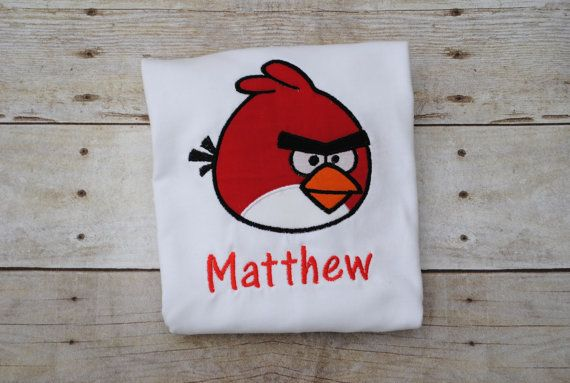 Angry birds shirt https://www.etsy.com/listing/219822162/red-angry-bird-shirt-birthday-shirt