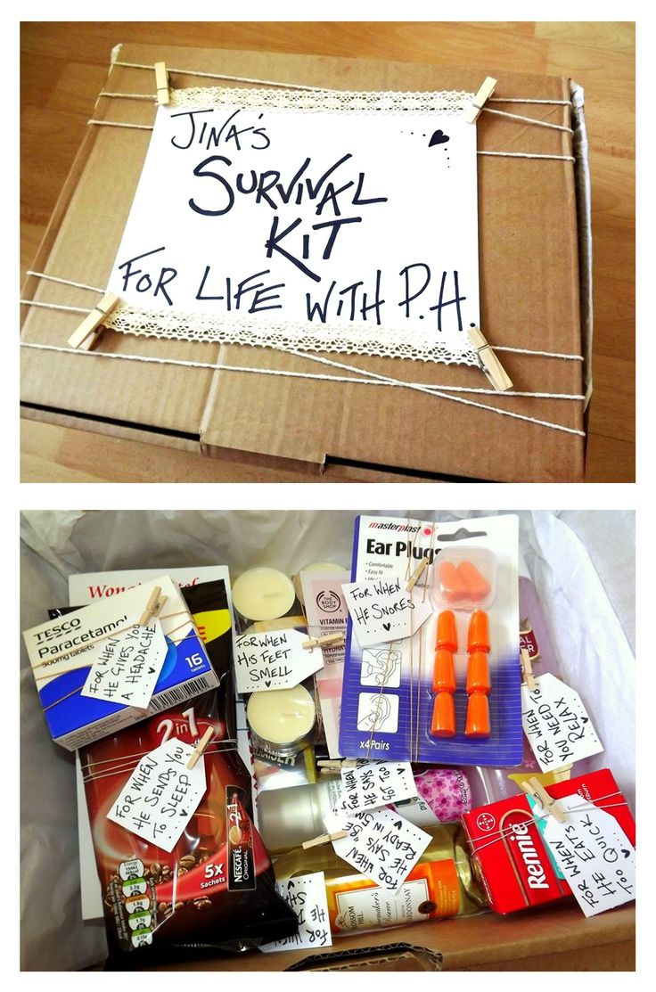 Creative Easy Inexpensive Wedding Gift Idea From A Bridesmaid To Bride Personalised Survival Kit Present For The Be Around