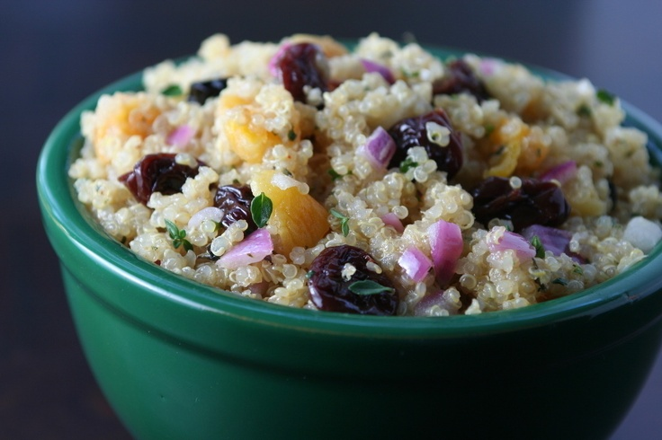 Quinoa with Dried Apricots and Cherries with Cumin Vinaigrette
