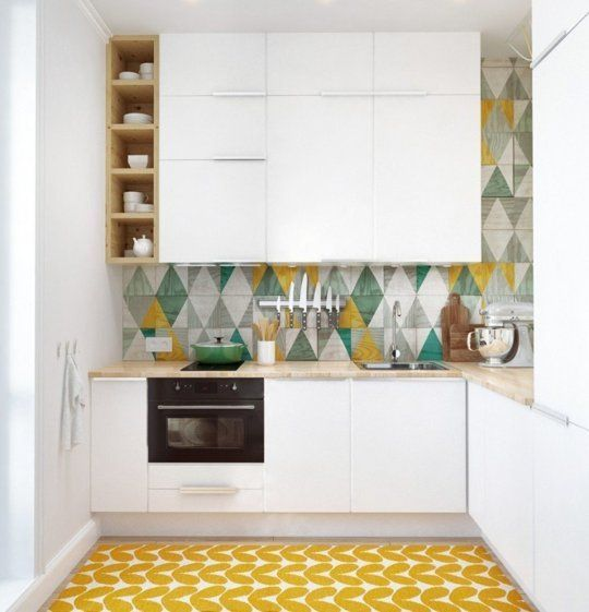 Sweet Sixteen: Stylish & Space-Saving Details for for Tiny Kitchen Makeovers   Apartment Therapy