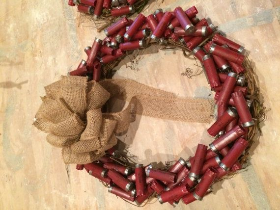 Shotgun Shell Wreath Red by DeepHollowCreations on Etsy