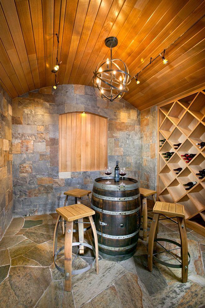 Non Halogen Track Lighting Mediterranean Ideas for Wine Cellar with Built in Wine Storage - http://ftmf.info/non-halogen-track-lighting-mediterranean-ideas-for-wine-cellar-with-built-in-wine-storage/