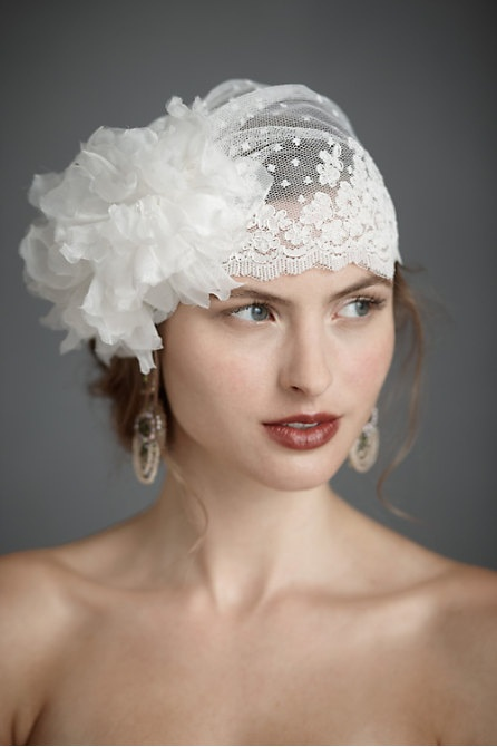 vintage wedding bridal headpiece the flower is a bit much but i like the lace
