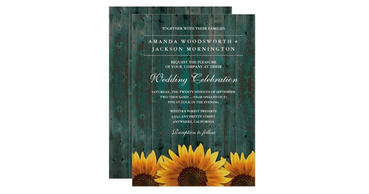 Cheap Sunflower Wedding Invitations: 25+ Best Ideas About Turquoise Country Weddings On
