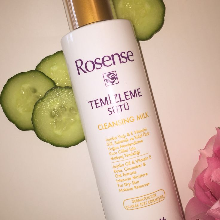 Wonderfull cleansing milk with extract from rose, cucumber and oat. For dry skin.
