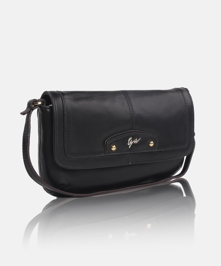 Giorgio Agnelli genuine #leather #clutches #handbag for #women GA 63011 Black -a chic classic design handbag-