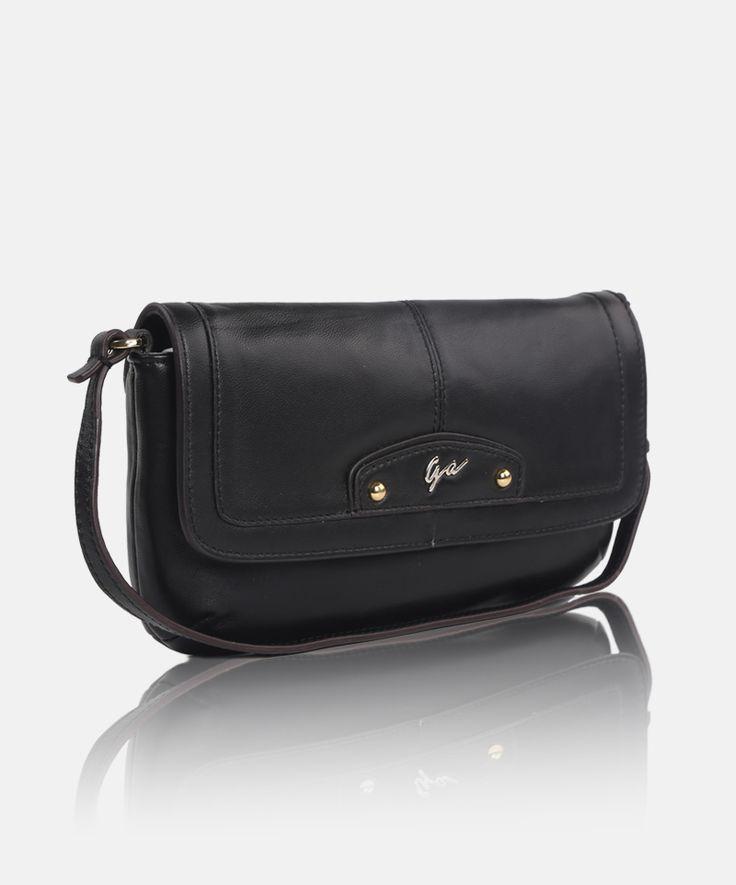 Giorgio Agnelli genuine #leather #clutches #handbag for #women GA 63011 Black -a chic classic design handbag-