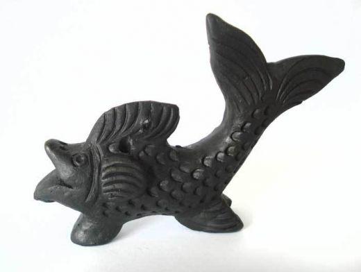 Podstawka pod kadzidła ceramiczna - ryba (ceramika, Nepal, wys. 9,5 cm)