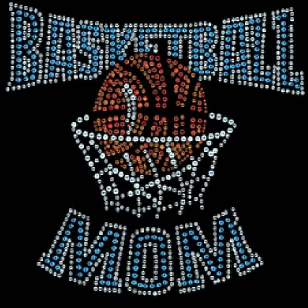 sports mom basketball mom iii bluetanclear rhinestone t shirts - Basketball Pictures To Color 2
