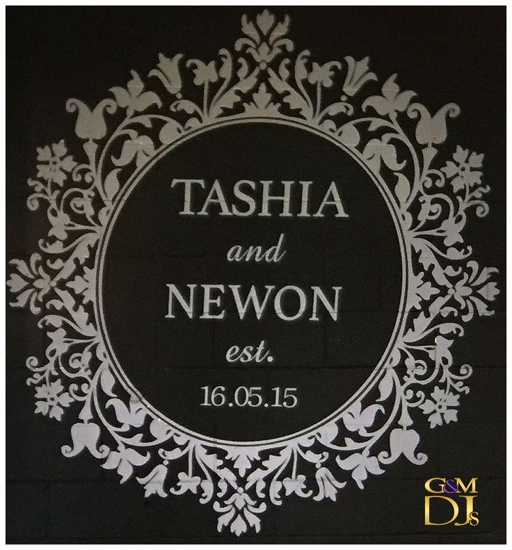 Wedding Monogram for Tashia & Newon Warehouse Reception at Lightspace | G&M DJs | Magnifique Weddings #gmdjs #magnifiqueweddings #weddinglighting #weddingdjbrisbane @gmdjs @lightspacebris