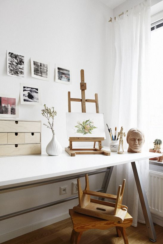 desk, storage, home, workspace, studio, stool