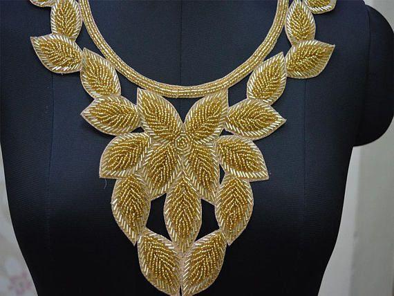 5 Pcs Latest Indian Round Flower Sequin Dress Rhinestone zardosi Dress Applique