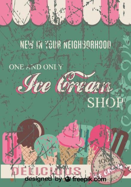 Retro Ice Cream Shop Poster Design