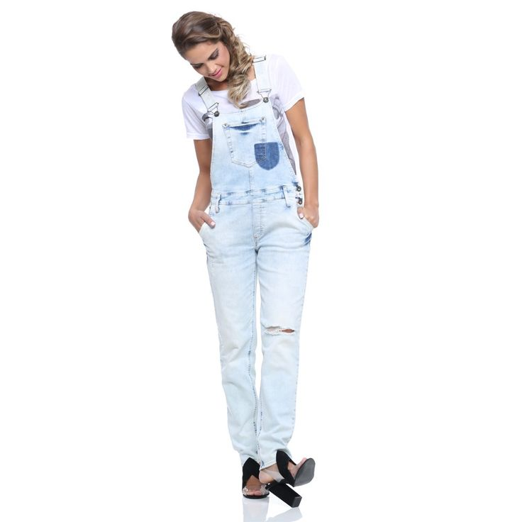 Las 25 mejores ideas sobre jardineira feminina en for Jardineira jeans feminina c a