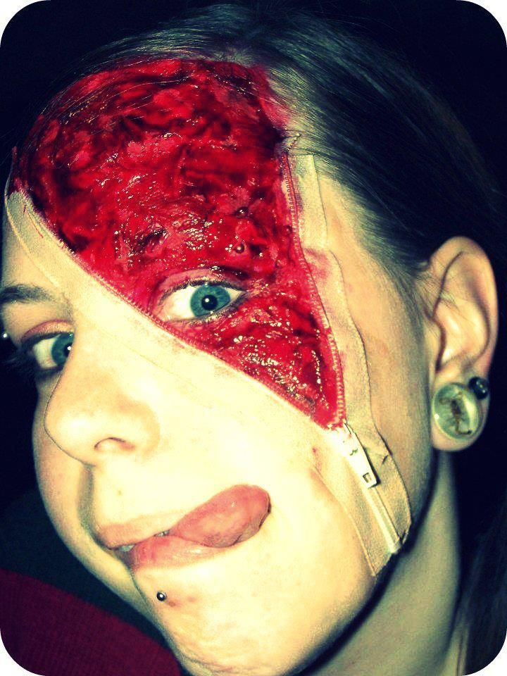 Bona Fide Boho: DIY: Zipper Face Costume