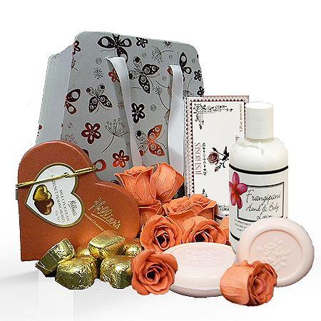 Gift For A Women - Rose Petals Pamper Hamper - Gift Delivery Australia Wide $60.00