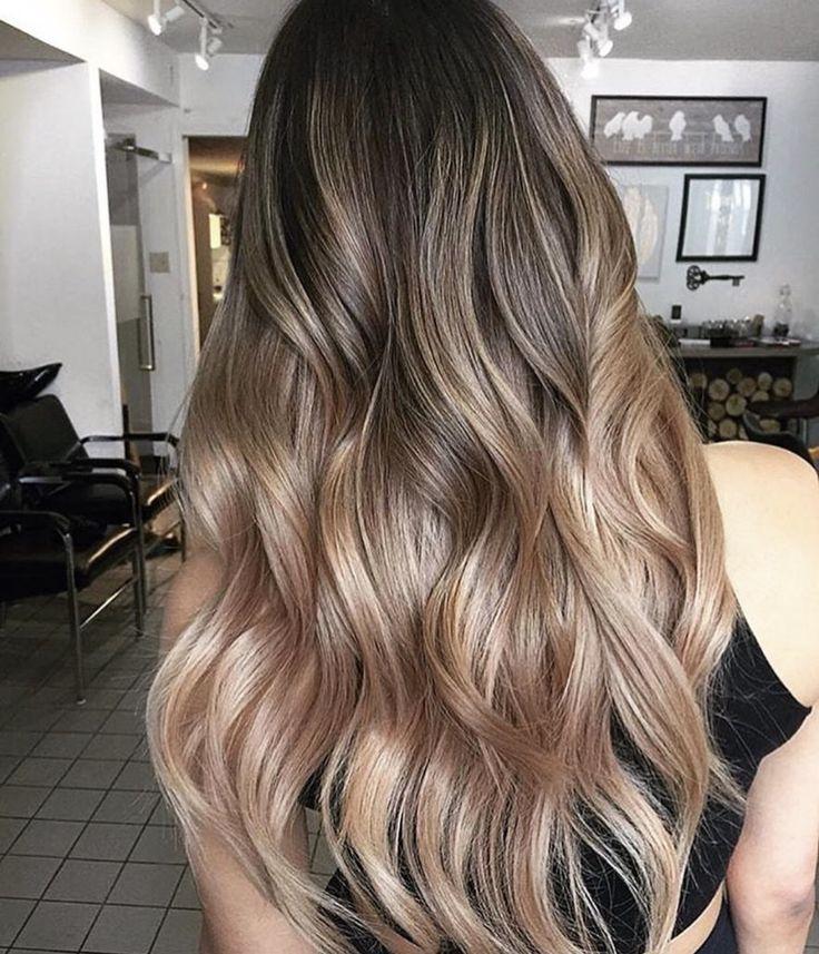 10 Winter Haircolors to wear this year Rose Gold Balayage