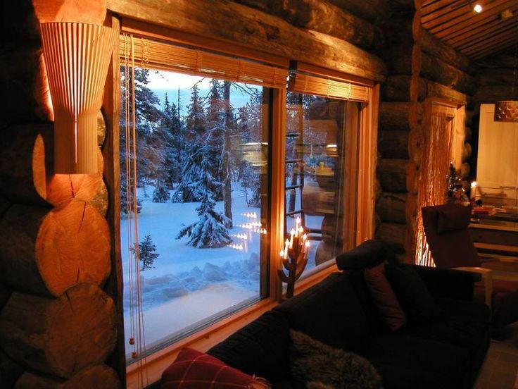 Mrazivý pohled z příjemně vytopeného srubu http://www.drevostavitel.cz/clanek/finske-sruby/1619