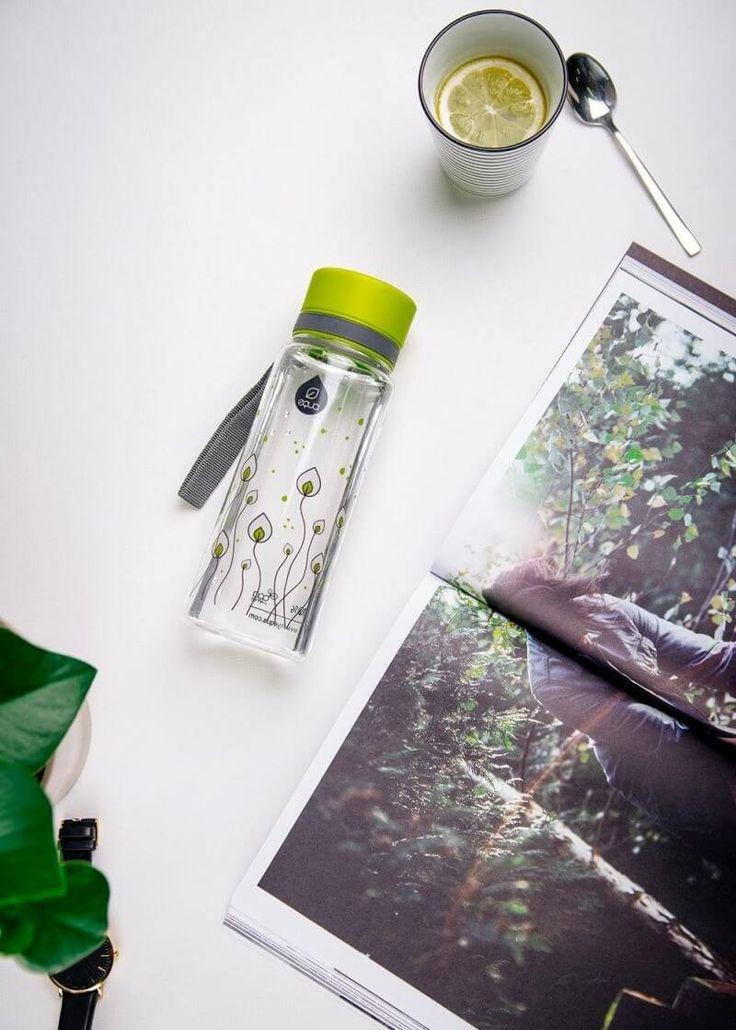 Zdravá fľaša Equa Green Leaves 600ml - Equa fľaše 600ml - Tritánové zdravé fľaše - Eko fľaše | SolarBunny.eu
