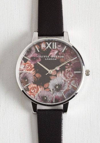 $124.99 Half Past Bloom Watch. 'Timeless' really is more when you functionally accessorize with this Olivia Burton watch! #black #modcloth