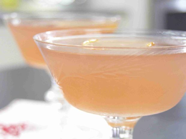 Clementine Cosmo - Clementines, Lime Juice, Simple Syrup, Cranberry Juice, Vanilla Vodka.
