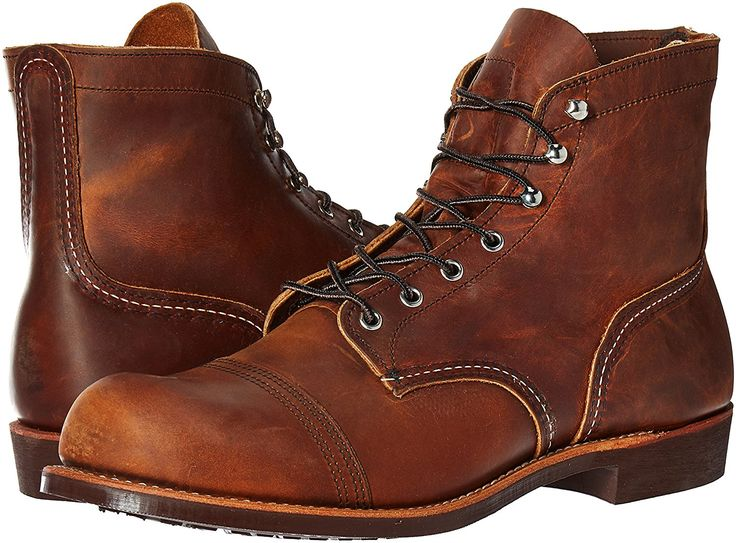 Brown leather boots mens