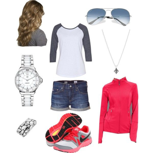 """Running around town"": Tips Makeup Outfits Ideas, Closet 3, Day Outfits, Activewear Jackets, Cute Casual Outfits, Sports Outfits, Outfits Clothing, Athletic Shoes, Sporty Outfits"