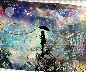 Fancy Original Scenery Night Anime Girl Wallpaper Here we see an anime girl with an umbrella looking at a pretty cool night scenery. This anime wallpaper is really cool. Truly, 5 stars worthy. These cute anime wallpapers feature a lot of cute anime scener