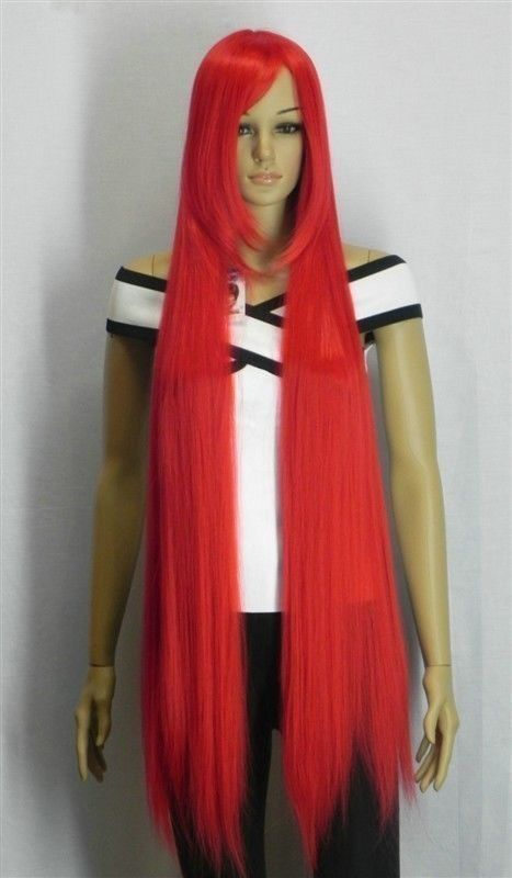 (26.98$)  Watch more here - http://aikd6.worlditems.win/all/product.php?id=32668731407 - Free Shipping>>>     RED LONG STRAIGHT COSPLAY PARTY WIG 100CM