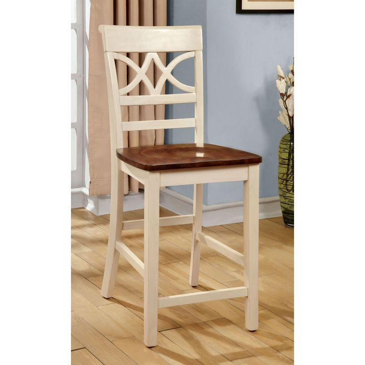 furniture of america betsy joan duotone counter height chair set of 2