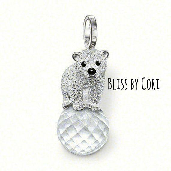Pavé Polar Bear Pendant & Gemstone Necklace    BlissbyCori