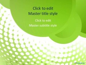 Free Green Groove PPT Template