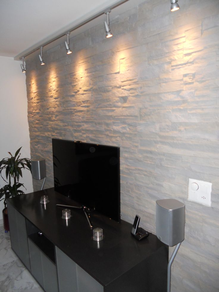 131 besten wandgestaltung wohnzimmer bilder auf pinterest - Wohnwand steinoptik ...