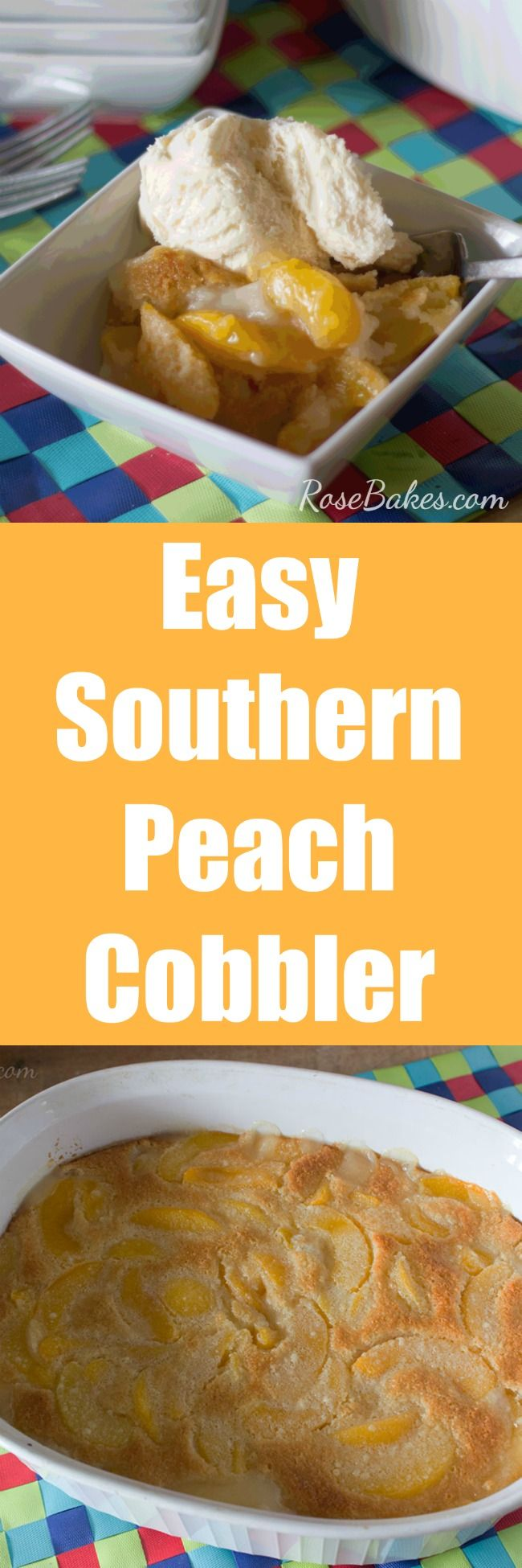 Southern peach cobbler, Peach cobblers and Cobbler on Pinterest