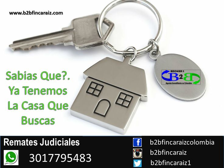 Remates Judiciales en Cartagena B2B Finca Raíz, Agentes Inmobiliarios en Colombia. El sueño de un hogar propio. www.b2bfincaraiz.com Cel: 3017795483