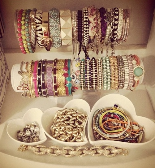 That is a very impressive bracelet collection.: Arm Candy, Organizations Jewelry, Jewelry Storage, Jewelry Display, Bracelets Holders, Jewellery Storage, Jewelry Organizations, Arm Parties, Jewelry Holder