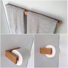 MODERNE Eiche Bad Leuchte set Dieses einzigartige Toilettenpapier und Handtuchhalter Rack ist ein muss für Ihr Badezimmer. Toilettenpapierhalter -Abmessungen: 6 1/4 x 5 x 2 -Montage von Schrauben und Dübel enthalten. Rack-Handtuchhalter -Abmessungen: 34 x 2 x 2,3/4 -Montage von Schrauben und Dübeln enthalten -Installiert: Taste gedrückt halten Verbindungselemente Wenn Sie in einer anderen Größe oder Holz interessiert wäre ich glücklich, Ihren Wünschen soweit verfügbar nachz...