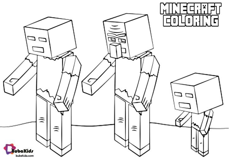 Minecraft coloring zombies coloring page in 2020 ...