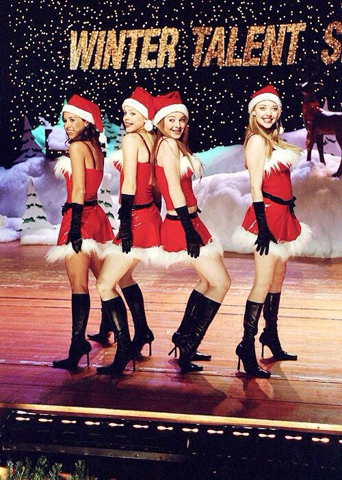 Mean Girls...even though this is a Christmas themed outfit, this would be a cute mean girls Halloween costume.