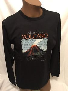 HAWAII VOLCANOES NATIONAL PARK, L/S T-Shirt Advice From A Volcano NWT NEW Large  | eBay