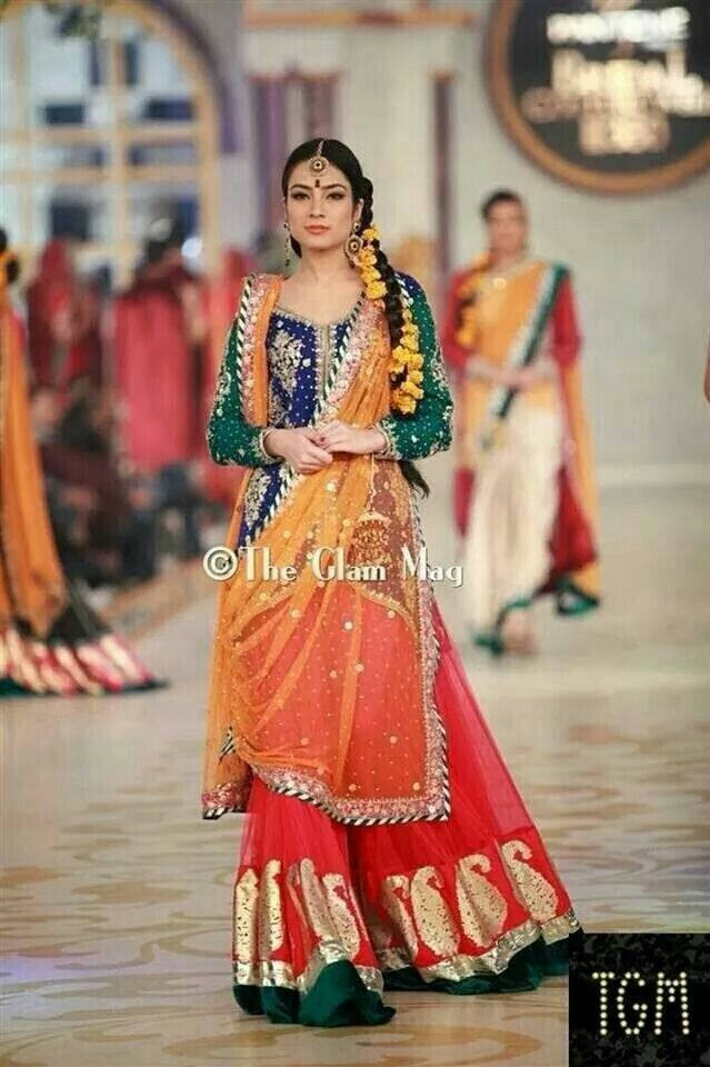 Pantene bridal couture week 2018 mehndi dresses images