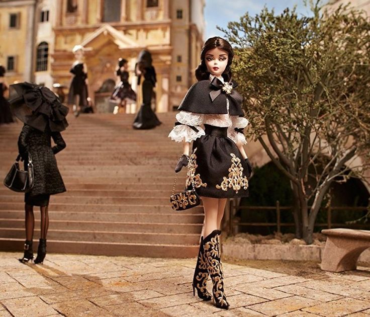 Barbie Black and Gold Dress Barbie Doll
